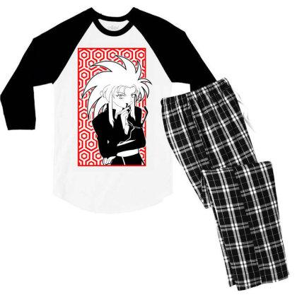 Ryoko Tenchi Men's 3/4 Sleeve Pajama Set Designed By Paísdelasmáquinas