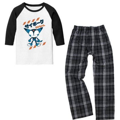 Kurochan Miku Youth 3/4 Sleeve Pajama Set Designed By Paísdelasmáquinas
