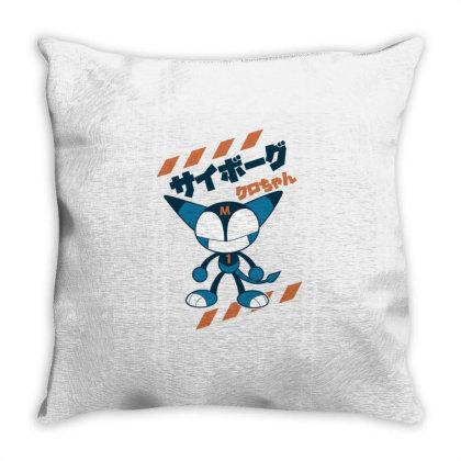 Kurochan Miku Throw Pillow Designed By Paísdelasmáquinas