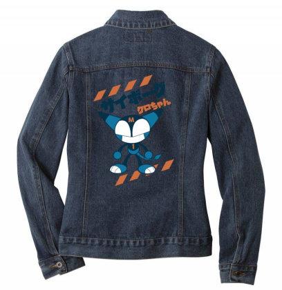 Kurochan Miku Ladies Denim Jacket Designed By Paísdelasmáquinas