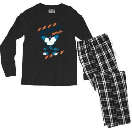 Kurochan Miku Men's Long Sleeve Pajama Set Designed By Paísdelasmáquinas