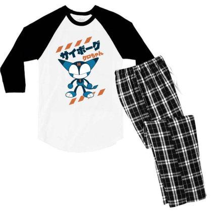 Kurochan Miku Men's 3/4 Sleeve Pajama Set Designed By Paísdelasmáquinas