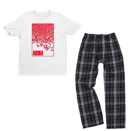 Akira Pills Youth T-shirt Pajama Set Designed By Paísdelasmáquinas