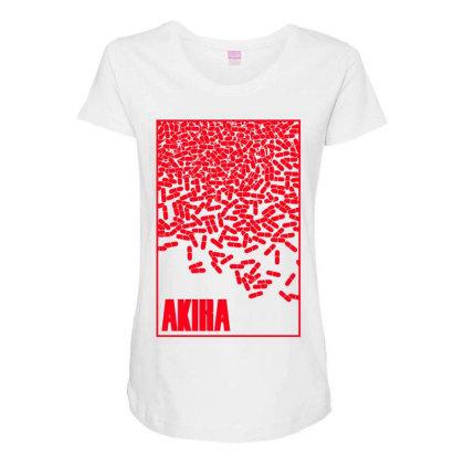 Akira Pills Maternity Scoop Neck T-shirt Designed By Paísdelasmáquinas