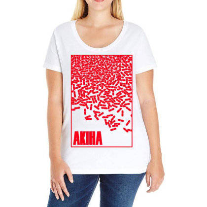 Akira Pills Ladies Curvy T-shirt Designed By Paísdelasmáquinas