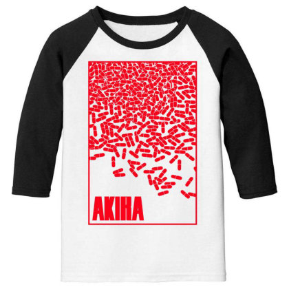 Akira Pills Youth 3/4 Sleeve Designed By Paísdelasmáquinas
