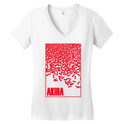 Akira Pills Women's V-neck T-shirt Designed By Paísdelasmáquinas
