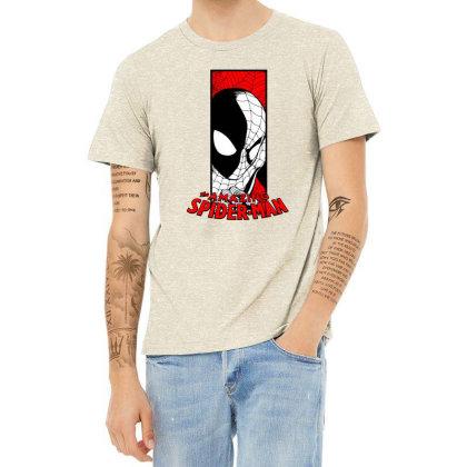 Spiderman Heather T-shirt Designed By Paísdelasmáquinas