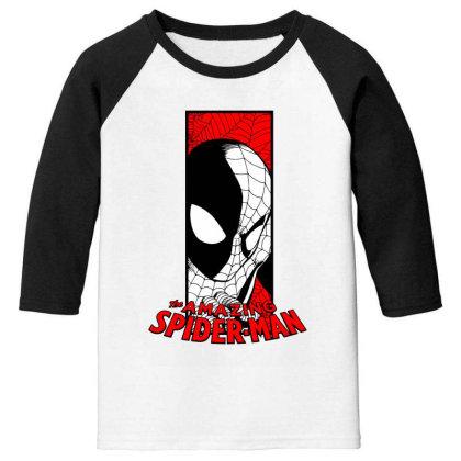 Spiderman Youth 3/4 Sleeve Designed By Paísdelasmáquinas
