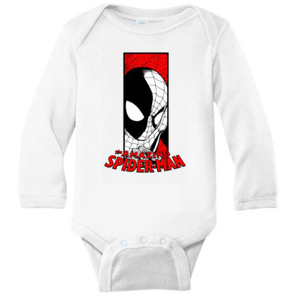 Spiderman Long Sleeve Baby Bodysuit Designed By Paísdelasmáquinas