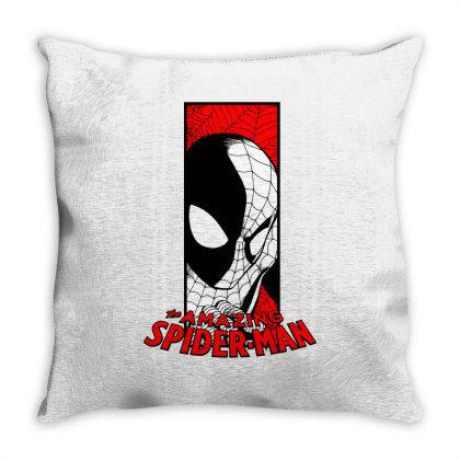 Spiderman Throw Pillow Designed By Paísdelasmáquinas