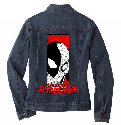 Spiderman Ladies Denim Jacket Designed By Paísdelasmáquinas