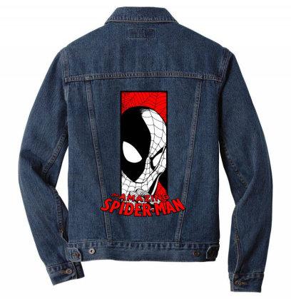 Spiderman Men Denim Jacket Designed By Paísdelasmáquinas