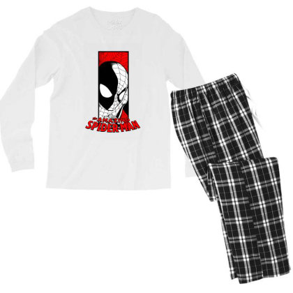 Spiderman Men's Long Sleeve Pajama Set Designed By Paísdelasmáquinas