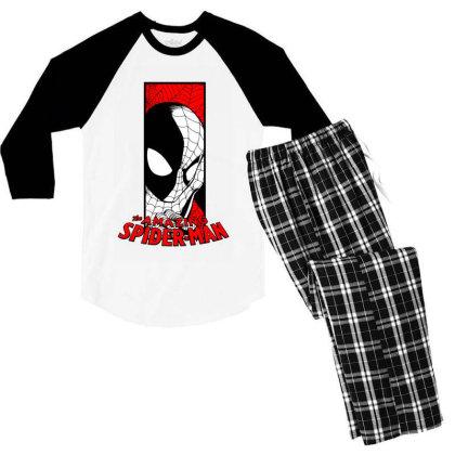 Spiderman Men's 3/4 Sleeve Pajama Set Designed By Paísdelasmáquinas