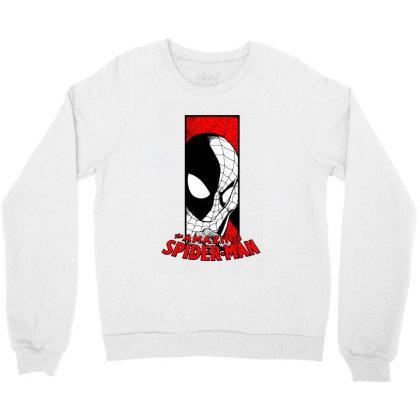 Spiderman Crewneck Sweatshirt Designed By Paísdelasmáquinas