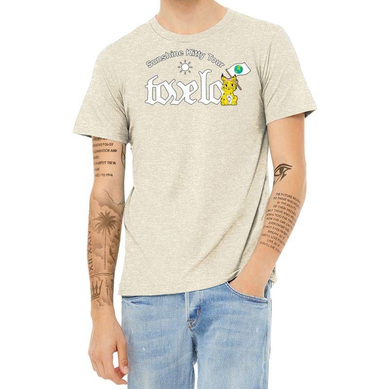 Tove Lo, Alma, Broods   Sunshine Kitty Tour 2020 Front Heather T-shirt | Artistshot