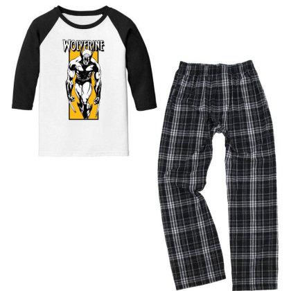 Wolverine Youth 3/4 Sleeve Pajama Set Designed By Paísdelasmáquinas