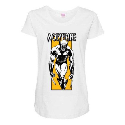 Wolverine Maternity Scoop Neck T-shirt Designed By Paísdelasmáquinas