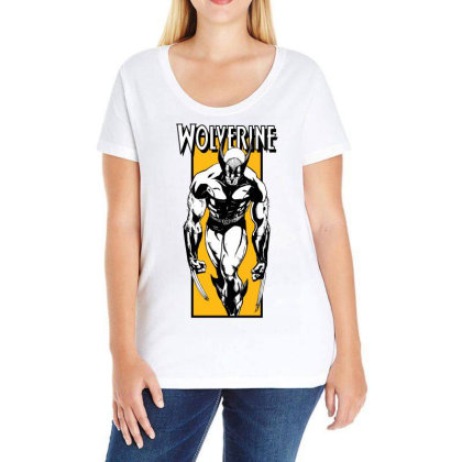 Wolverine Ladies Curvy T-shirt Designed By Paísdelasmáquinas