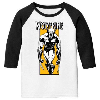 Wolverine Youth 3/4 Sleeve Designed By Paísdelasmáquinas
