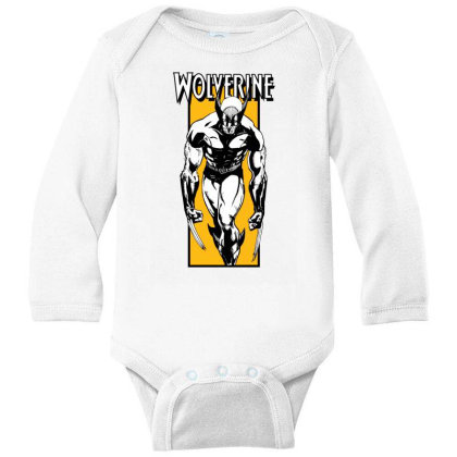 Wolverine Long Sleeve Baby Bodysuit Designed By Paísdelasmáquinas