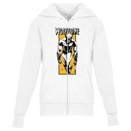 Wolverine Youth Zipper Hoodie Designed By Paísdelasmáquinas