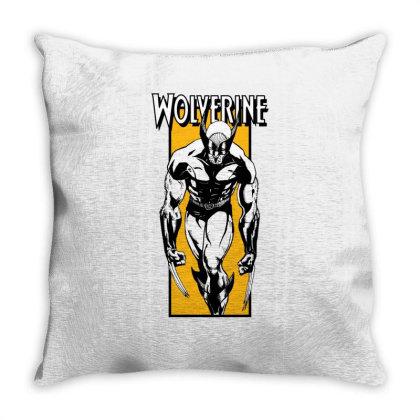 Wolverine Throw Pillow Designed By Paísdelasmáquinas