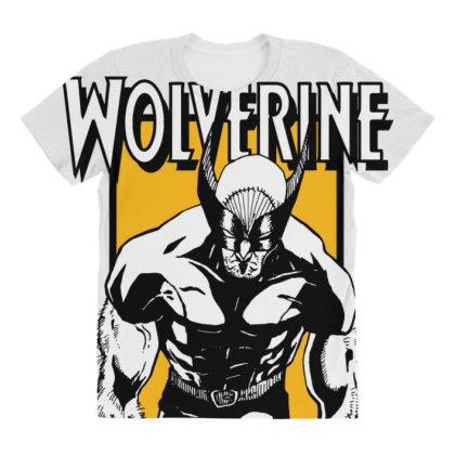 Wolverine All Over Women's T-shirt Designed By Paísdelasmáquinas