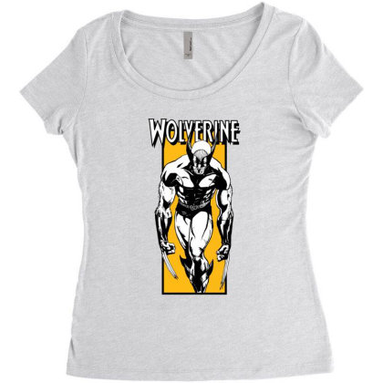 Wolverine Women's Triblend Scoop T-shirt Designed By Paísdelasmáquinas