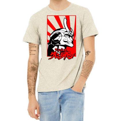 Gurren Lagann Heather T-shirt Designed By Paísdelasmáquinas