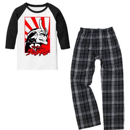 Gurren Lagann Youth 3/4 Sleeve Pajama Set Designed By Paísdelasmáquinas