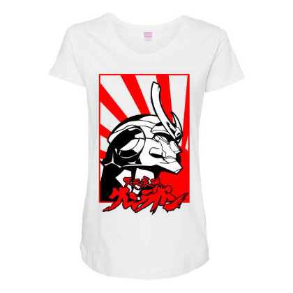 Gurren Lagann Maternity Scoop Neck T-shirt Designed By Paísdelasmáquinas