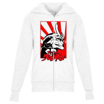 Gurren Lagann Youth Zipper Hoodie Designed By Paísdelasmáquinas