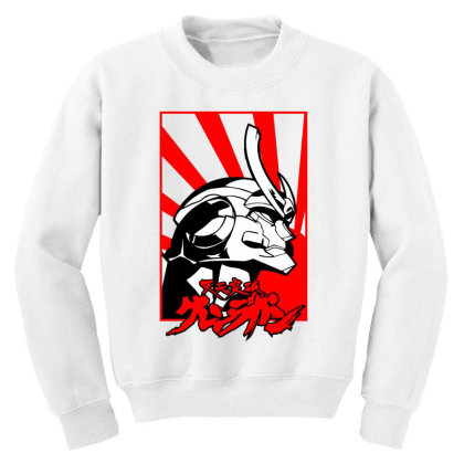 Gurren Lagann Youth Sweatshirt Designed By Paísdelasmáquinas