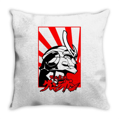 Gurren Lagann Throw Pillow Designed By Paísdelasmáquinas