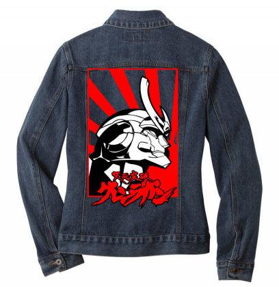 Gurren Lagann Ladies Denim Jacket Designed By Paísdelasmáquinas