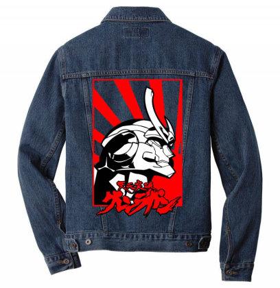 Gurren Lagann Men Denim Jacket Designed By Paísdelasmáquinas
