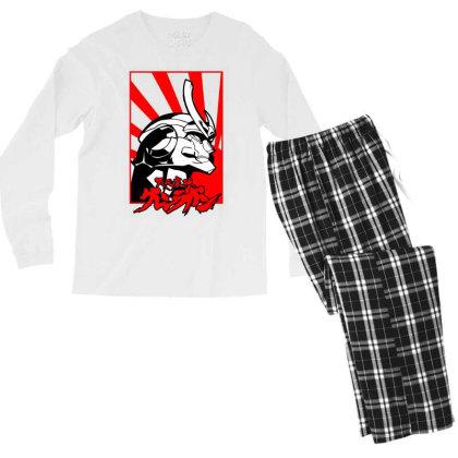 Gurren Lagann Men's Long Sleeve Pajama Set Designed By Paísdelasmáquinas