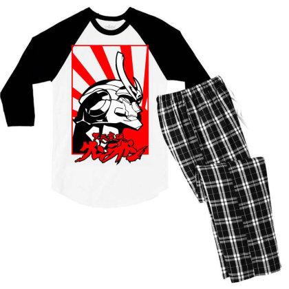 Gurren Lagann Men's 3/4 Sleeve Pajama Set Designed By Paísdelasmáquinas
