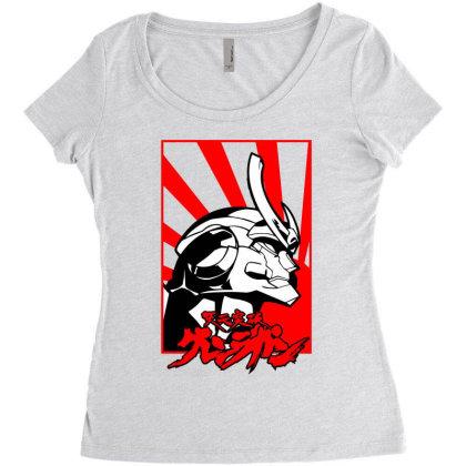 Gurren Lagann Women's Triblend Scoop T-shirt Designed By Paísdelasmáquinas