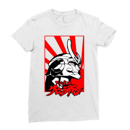 Gurren Lagann Ladies Fitted T-shirt Designed By Paísdelasmáquinas
