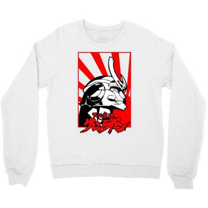Gurren Lagann Crewneck Sweatshirt Designed By Paísdelasmáquinas