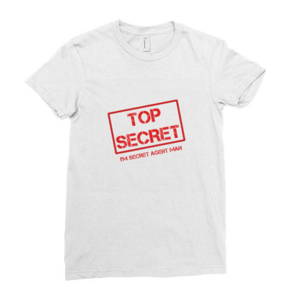 Top Secret Ladies Fitted T-shirt Designed By Vk91art