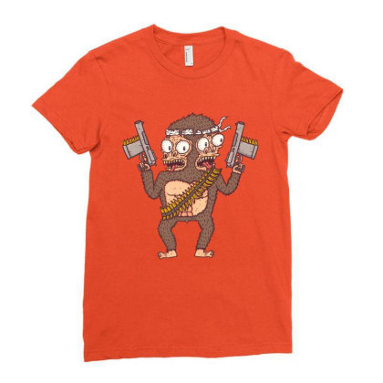 Guerilla Gorilla Ladies Fitted T-shirt Designed By Hexyeah