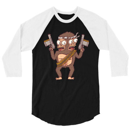 Guerilla Gorilla 3/4 Sleeve Shirt Designed By Hexyeah