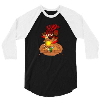Final Boss 3/4 Sleeve Shirt Designed By Gracer