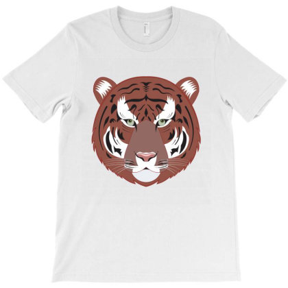 Tiger With Green Eyes T-shirt Designed By Emardesign
