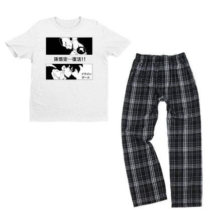 Dragon Ball Goku Vs Frieza Youth T-shirt Pajama Set Designed By Paísdelasmáquinas