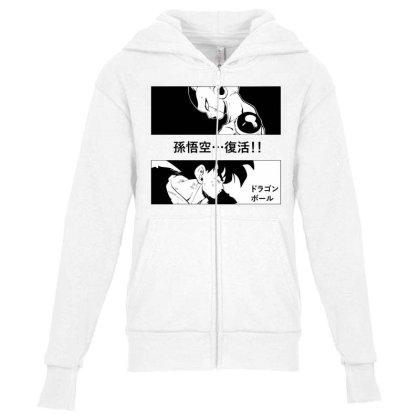 Dragon Ball Goku Vs Frieza Youth Zipper Hoodie Designed By Paísdelasmáquinas